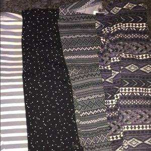5 pair of leggings